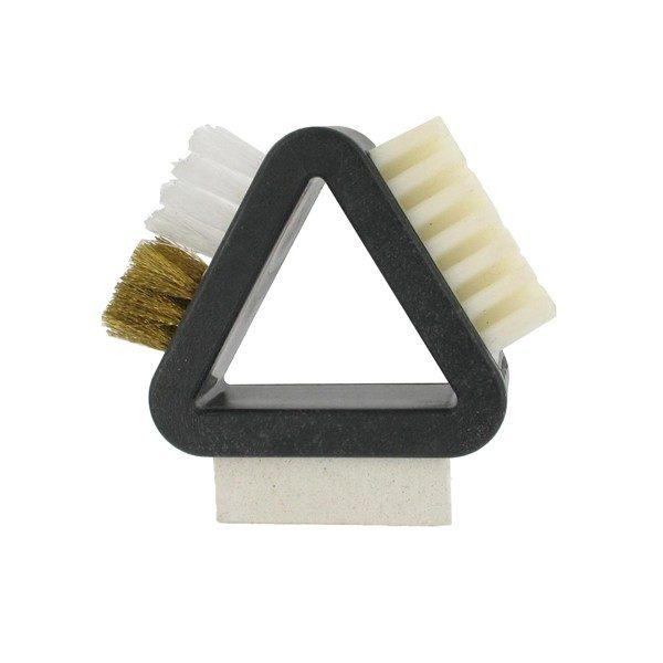 Brosse triangulaire 3 en 1 pour le daim