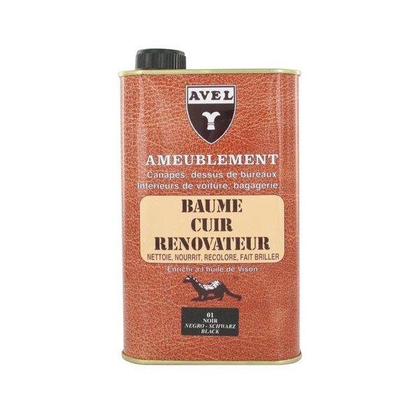 Baume cuir rénovateur liquide 500 ml AVEL pour canapés