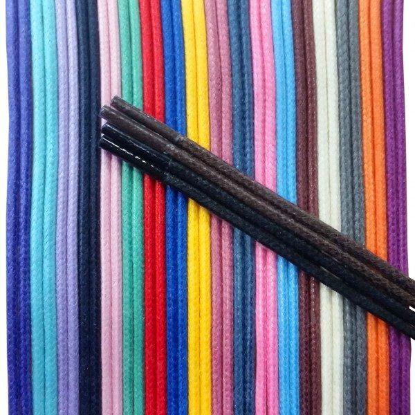 Lot de 16 paires de lacets cirés (couleurs assorties) 49.90€