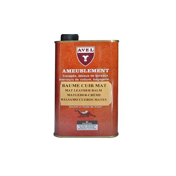Baume incolore pour cuir mat AVEL 500ml