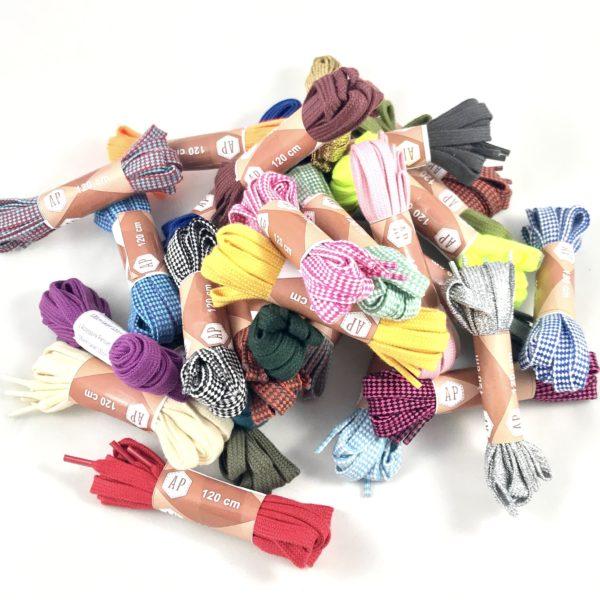 Lacets chaussures plats couleurs