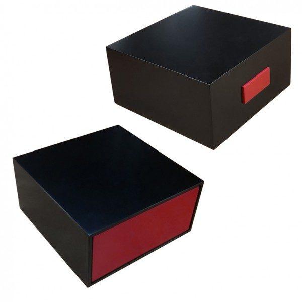 Coffret à cirages tiroir Noir/Rouge garni de produits SAPHIR