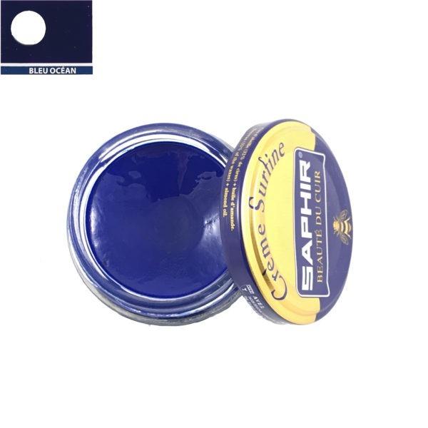 cirage saphir crème surfine bleu océan