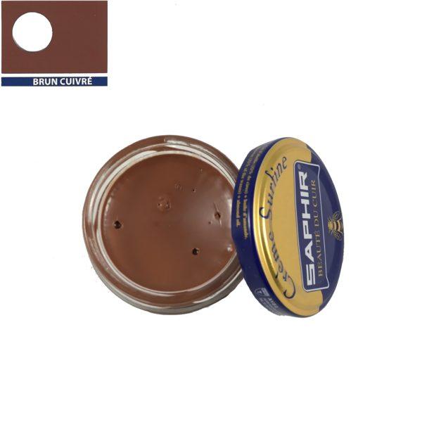 cirage saphir crème surfine brun cuivré