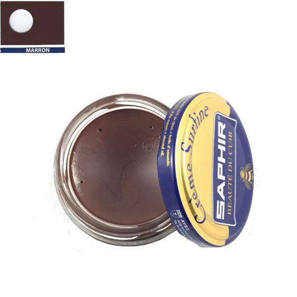 cirage pour les chaussures en cuir saphir crème surfine marron
