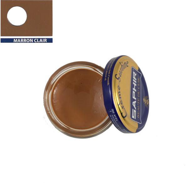 cirage saphir crème surfine marron clair
