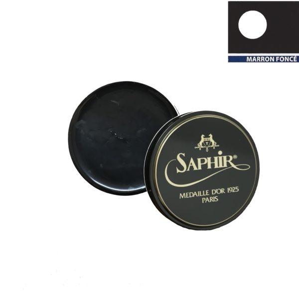 medaille d'or cirage pâte de luxe 100 ml marron foncé