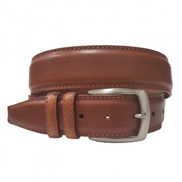 ceinture en cuir doublé collet pour homme marron clair