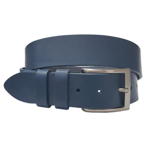 ceinture en collet souple homme bleu